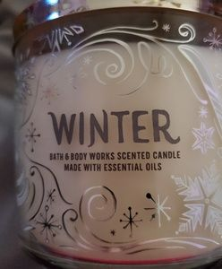 New bath and body works winter 3 wick candle
